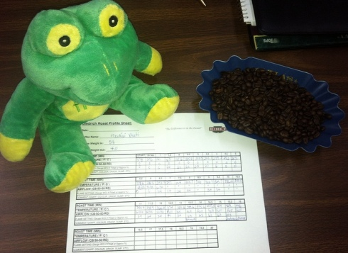Frog Q Roast sheet with spike at the End