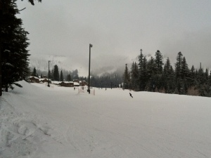 Skiing at Schweitzer