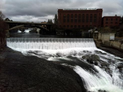 Spokane Falls With Power Plant