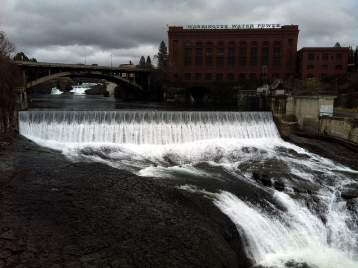 Spokane Falls With Power Plant